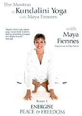Energise Peace and Freedom DVD by Maya Fiennes